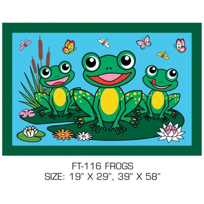 Fun Time Frogs Kids Rug Rug Size: 17 x 25