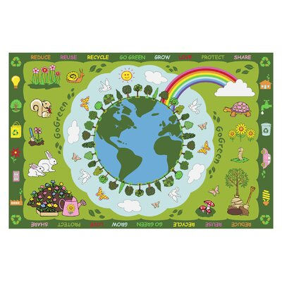 Fun Time Go Green Kids Rug Rug Size: 43 x 66