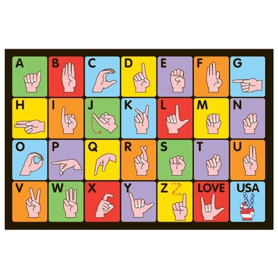 Fun Time Sign Language Kids Rug Rug Size: 17 x 25