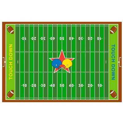 Fun Time Football Field Kids Rug Rug Size: 33 x 410