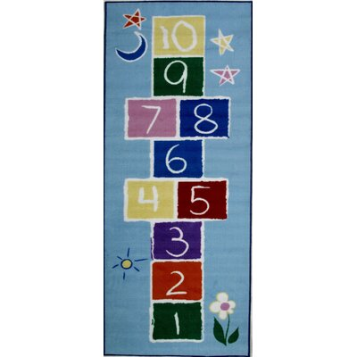 Fun Time Primary Hopscotch Area Rug Rug Size: Runner 26 x 66