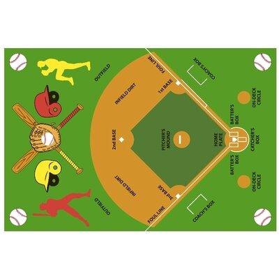 Fun Time Baseball Field Kids Rug Rug Size: 33 x 410