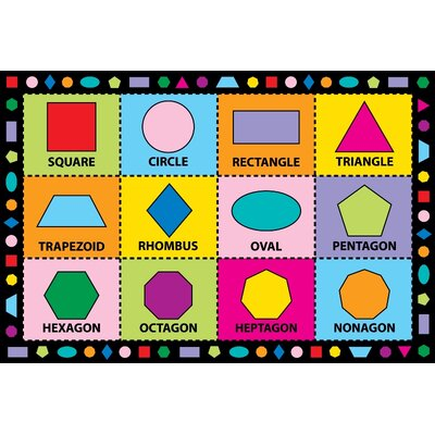 Fun Time Shapes Kids Rug Rug Size: 43 x 66