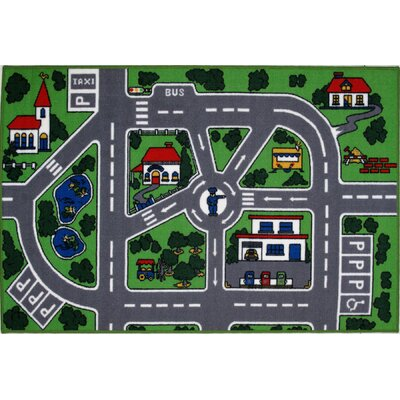 Fun Time Around Town Road Area Rug Rug Size: 43 x 66
