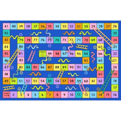 Fun Time Snakes and Ladders Kids Rug Rug Size: 43 x 66