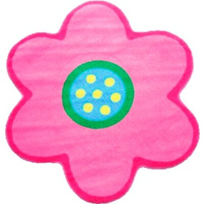 Fun Time Shape Poppy Light Pink Kids Area Rug Rug Size: Flower 33 x 33