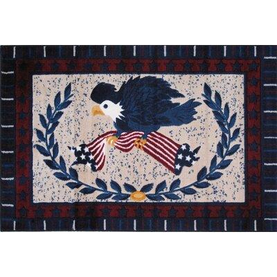 Supreme American Eagle Kids Rug Rug Size: 3'3