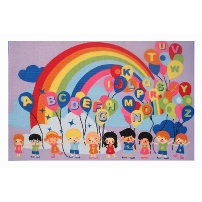 Fun Time Educational Balloons Kids Rug Rug Size: 17 x 25