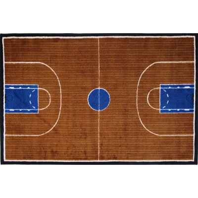 Supreme Basketball Court Kids Rug Rug Size: 27 x 311