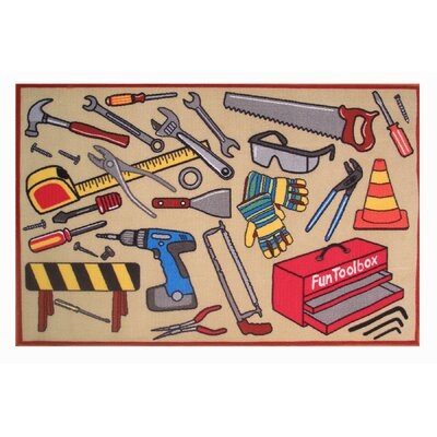 Fun Time Fun Toolbox Kids Rug Rug Size: 17 x 25