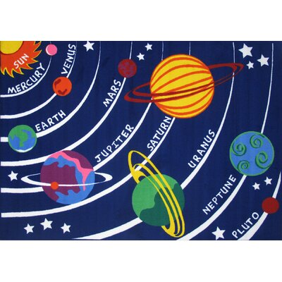 Fun Time Solar System Kids Rug Rug Size: 27 x 311