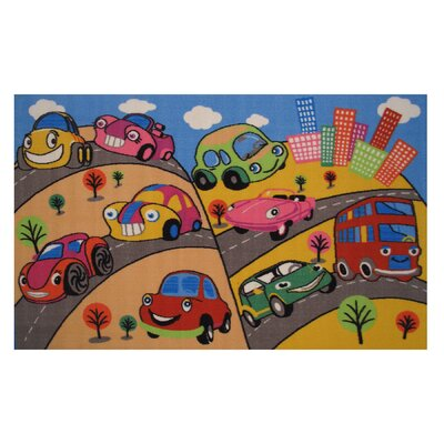 Fun Time Fun Cars Kids Rug Rug Size: 33 x 410
