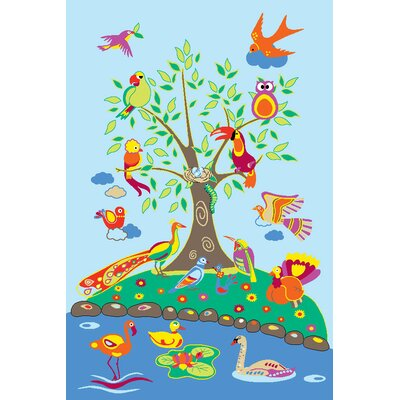 Fun Time Birds of Paradise Kids Rug Rug Size: 43 x 66