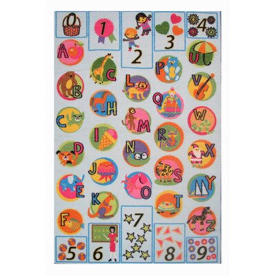 Fun Time Now I Know My ABCs Kids Rug Rug Size: 17 x 25
