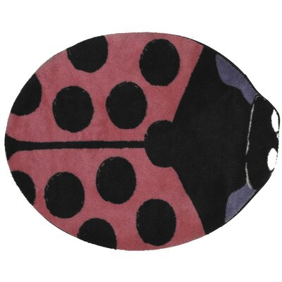Fun Time Shape Pink Lady Bug Kids Rug Rug Size: Novelty 211 x 33