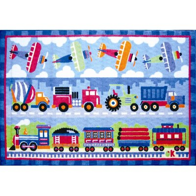 Olive Kids Trains, Planes and Trucks Area Rug Rug Size: 33 x 410