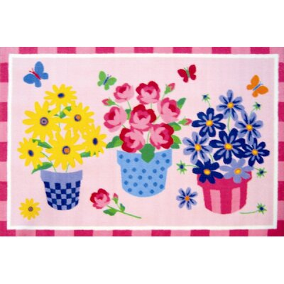 Olive Kids Blossoms and Butterflies Flower Area Rug Rug Size: 33 x 410