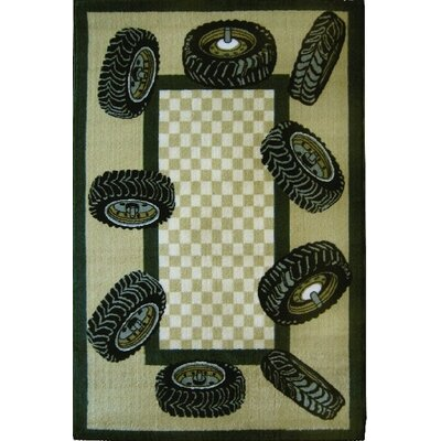 Fun Time Tire Border Auto Area Rug Rug Size: 33 x 410