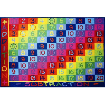 Fun Time Addition Classroom Area Rug Rug Size: 8 x 11