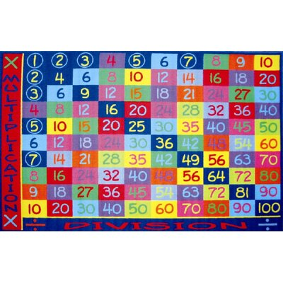 Fun Time Multiplication Classroom Area Rug Rug Size: 8 x 11