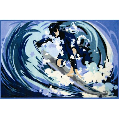 Fun Time Surfin Surfboard Area Rug Rug Size: 17 x 25