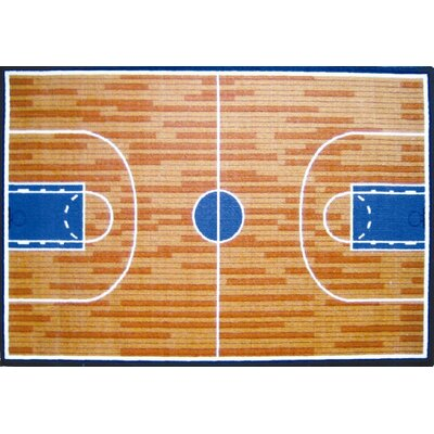 Fun Time Basketball Court Sports Area Rug Rug Size: 33 x 410