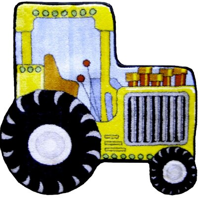 "Fun Rugs Fun Shape High Pile Tractor Kids Rug - Rug Size: 2'7"" x 2'7"" at Sears.com"
