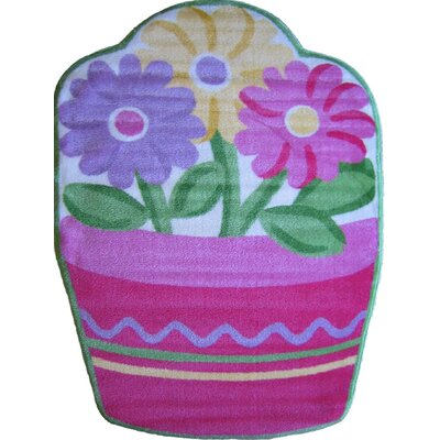 Fun Shape High Pile Flower Area Rug Rug Size: Flower 33 x 410
