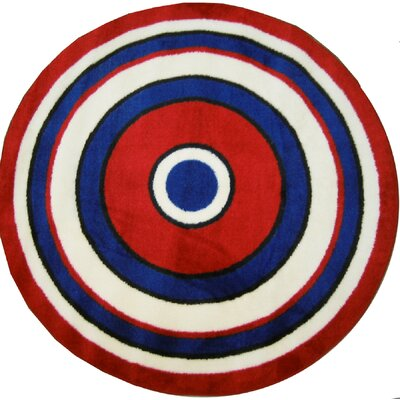 Fun Shape High Pile Concentric Circles Area Rug Rug Size: Round 43