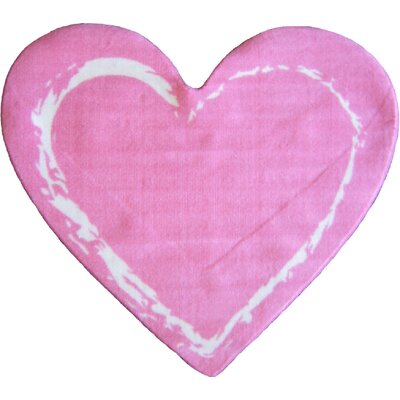 Fun Shape Medium Pile Heart Area Rug Rug Size: Novelty 211 x 33