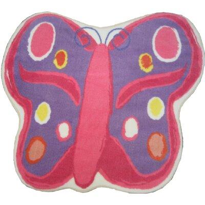Fun Shape Medium Pile Butterfly Area Rug Rug Size: Butterfly 211 x 33