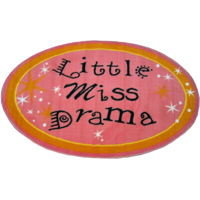 Fun Shape Little Miss Drama Area Rug Rug Size: 27 x 43
