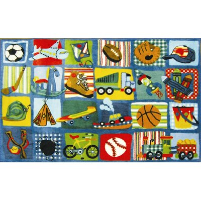 Supreme Funky Patchwork Boys Area Rug Rug Size: 33 x 410