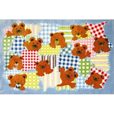 Supreme Patches Bear Area Rug Rug Size: 33 x 410