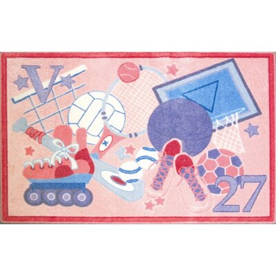 Supreme All Star Girls Pink Area Rug Rug Size: Rectangle 33 x 410