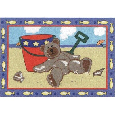 Jade Reynolds Beach Bear Kids Rug Rug Size: 33 x 410
