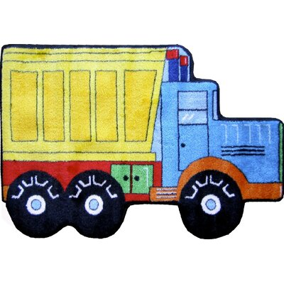Fun Shape High Pile Dump Truck Area Rug Rug Size: Novelty Dump Truck 27 x 311