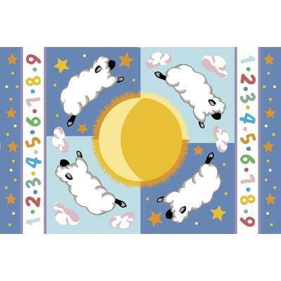 Olive Kids Sleepy Sheep Baby Area Rug Rug Size: 17 x 25