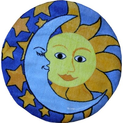 Fun Shape High Pile Day and Night Area Rug Rug Size: Round 27