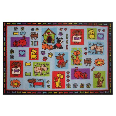 Fun Time Pets R Us Area Rug Rug Size: 17 x 25