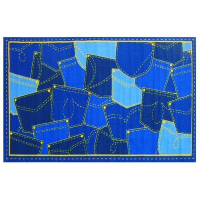 Fun Time Jean Pocket Blue Area Rug Rug Size: 17 x 25