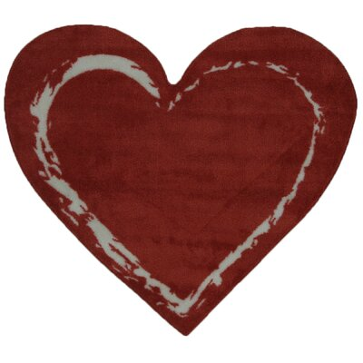 Fun Time Heart Red Area Rug