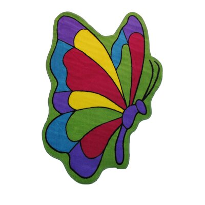 Fun Time Butterfly Flight Area Rug