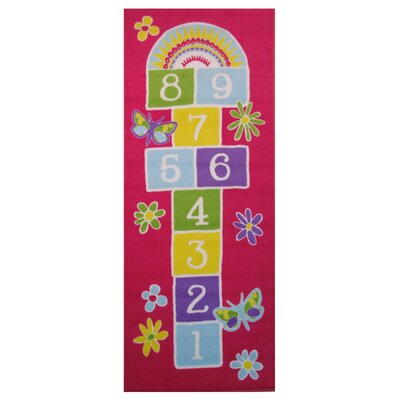 Fun Time Garden Hopscotch Area Rug Rug Size: 17 x 25