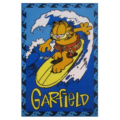 Garfield Surfing Blue Area Rug Rug Size: 17 x 25