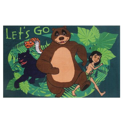 The Jungle Book Lets Go Green Area Rug