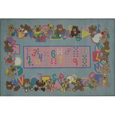 Supreme Teddies and Letters Grey Area Rug