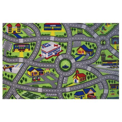 Fornax Driving Fun Area Rug Rug Size: 17 x 25