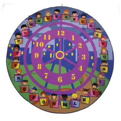 Fun Time Wheel of Fun Purple Area Rug