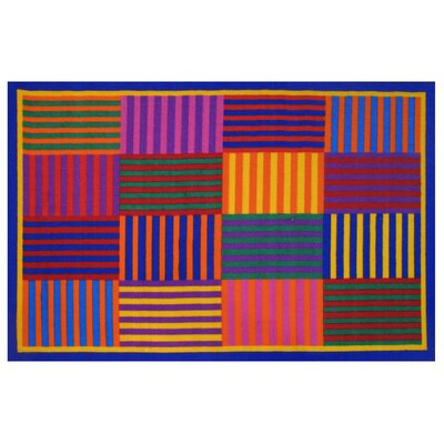 Fun Time Rainbow Stripe Area Rug